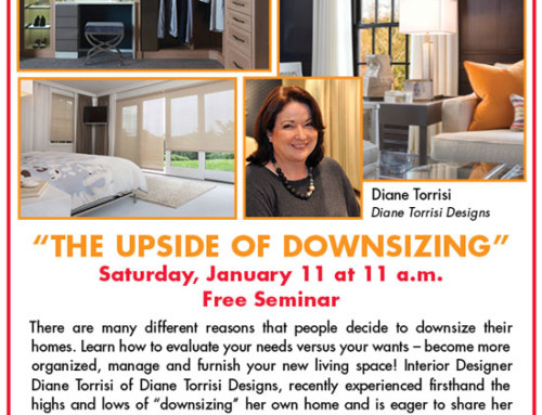 The Upside of Downsizing by Diane Torrisi Designs